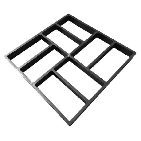 square shaped concrete garden path mold